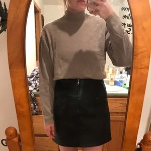 Tops - 90's Style Stretchy Mock Neck
